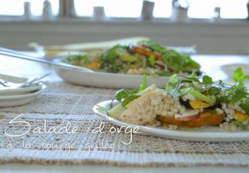 Salade d'orge à la courge grillée