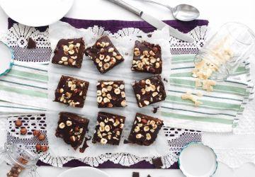 Brownies végans aux noisettes et au sirop d'érable