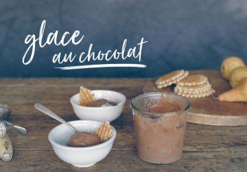 Glace au chocolat (sans oeufs ni produits laitiers)