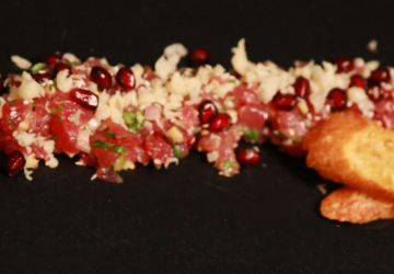 Tartare de thon rouge à la Baby à la pomme grenade et gingembre
