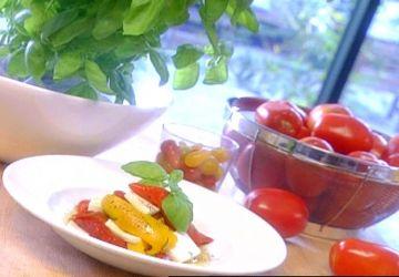 Salade de poivrons et fromage