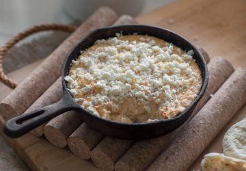 Trempette aux artichauts, poivrons grillés & fromage féta