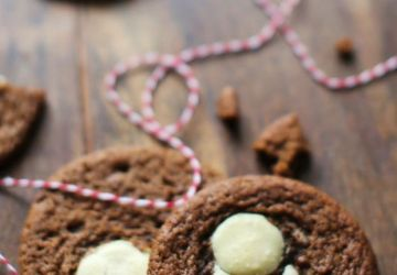 Biscuits tendres au chocolat blanc et au gingembre