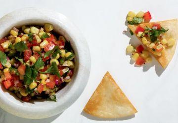 Salsa de maïs et de tomates