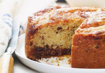 Gâteau au caramel aux dattes