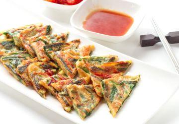Pancakes coréennes aux légumes