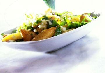 Salade de pommes de terre tièdes à la moutarde