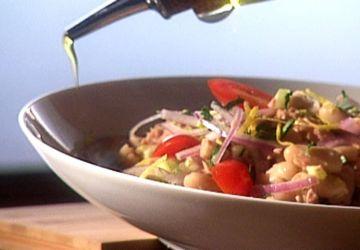 Salade de thon et de haricots