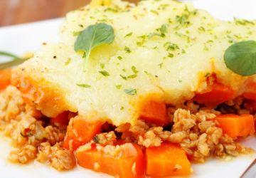 Pâté chinois réinventé aux tomates et gratin