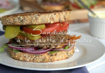Sandwich à la galette d'épeautre