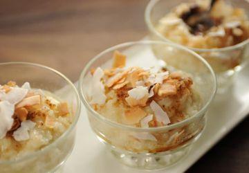 Riz au lait de coco et au chocolat blanc