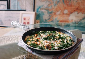 Frittata kale, patates douce et feta de Tamy Emma Pepin