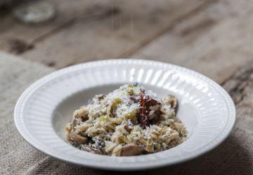 Risotto aux poireaux & champignons