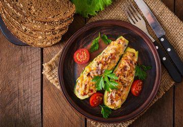 Zucchinis farcis végétariens
