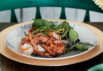 Bulgogi de poulet grillé épicé