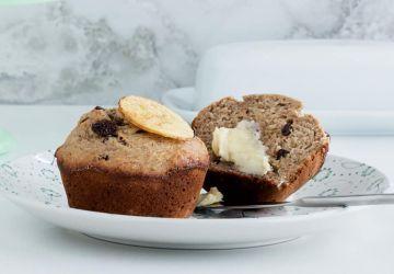 Muffins au son, aux bananes et aux raisins