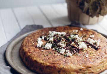 Tortilla de patates douces, quinoa & féta