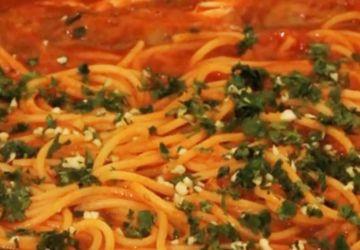 Galinettes aux spaghetti