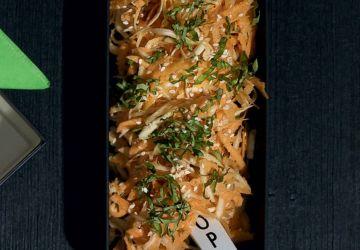 Salade de patates douces et de panais râpés