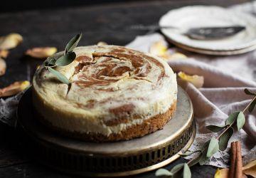 Gâteau au fromage marbré à la courge