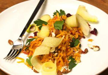 Salade de carottes râpées et canneberges