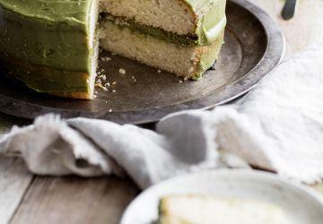 Naked cake au miel & au thé matcha