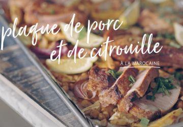 Plaque de porc et de citrouille à la marocaine