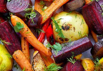 Légumes d'hiver cuits en papillote