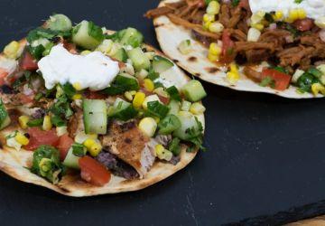 Tacos de mahi-mahi et tacos de porc effiloché