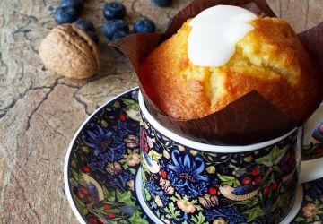 Mug cake aux bleuets