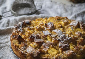 Pouding au pain à l'ananas