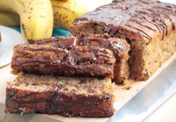 Pain marbré bananes et chocolat