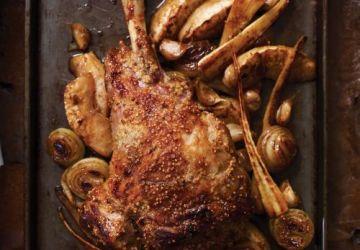 Gigot d'agneau à l'érable et légumes caramélisés