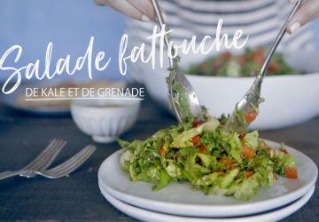 Salade fattouche de kale et de grenade