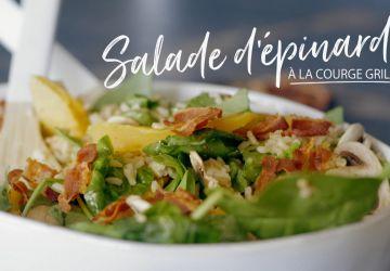 Salade d'épinards à la courge grillée