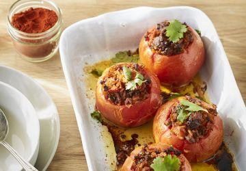 Tomates farcies au bœuf & au riz