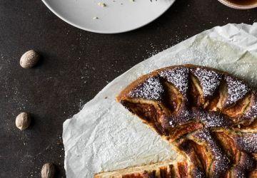 Gâteau aux pommes et amandes