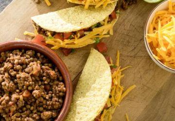 Tacos aux lentilles et au bœuf