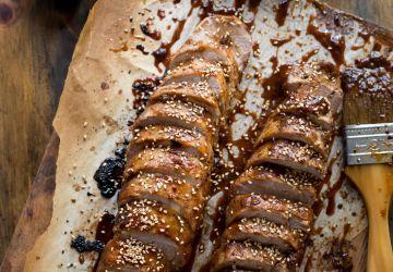 Filets de porc laqué au miso et au miel