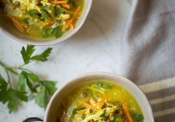 Soupe-repas de poulet et millet