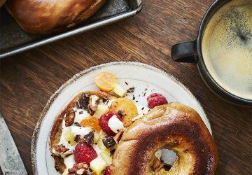 Bagel doré Café & Crème au yogourt & aux fruits