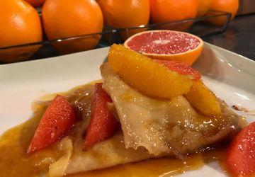 Crêpes Suzette, sauce à l'orange