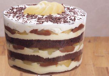Trifle au double chocolat et à la poire