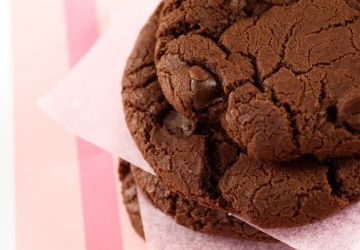 Biscuits tendres triple chocolat