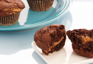 Muffins choco, bananes et noisettes