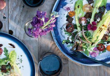Salade de boeuf mariné et grillé