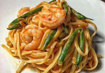 Linguini aux crevettes