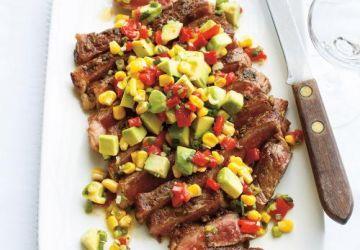 Steak minute et salade d'avocat
