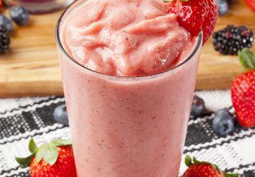 Smoothie fraises-banane-tofu