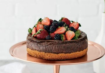 Gâteau au fromage et au chocolat